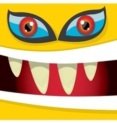 Cartoon orange monster face vector