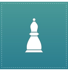Chess officer icon vector