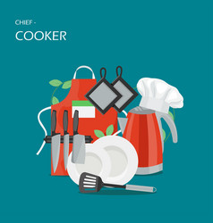 Chief-cooker concept flat style design vector