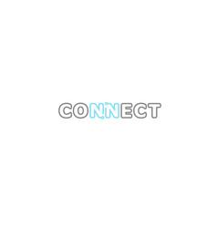 connection typography logo symbol design vecor vector image