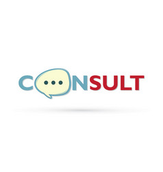 Consult and speak balloon logo vector