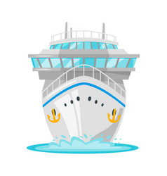 Cruise ship - front view vector