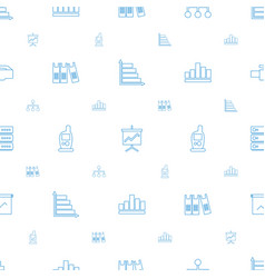 Data icons pattern seamless white background vector