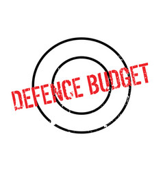Defence budget rubber stamp vector