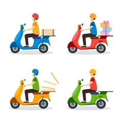 Delivery Man Set vector image
