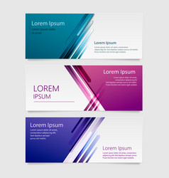 design banner background abstract vector image