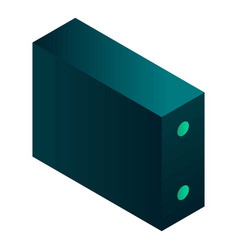 desktop case pc icon isometric style vector image