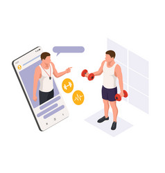 dumbbell exercises and workouts training online vector image