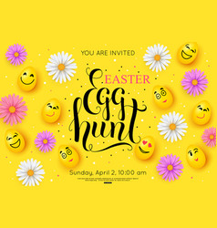 easter egg hunt flyer invitation vector image