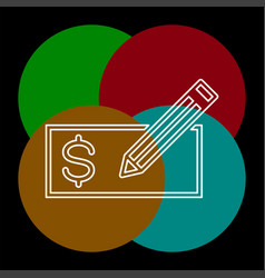 edit card - credit card or bank cheque vector image