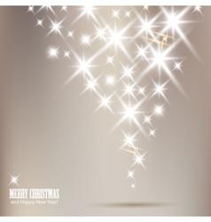 Elegant christmas background with shiny stars vector