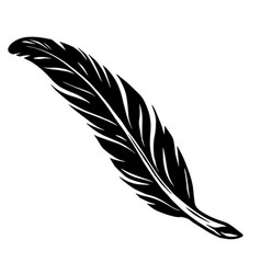 elegant vintage feather tattoo concept vector image