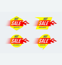 emblem hot sale price offer deal labels template vector image