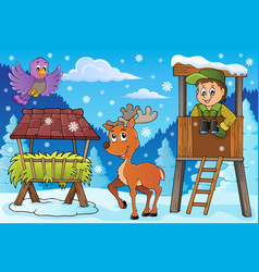 Forester winter theme 3 vector