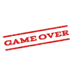 Game Over Watermark Stamp vector