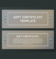 Gift certificate with crystal voucher with blue vector