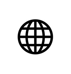 Globe icon in flat style for app ui websites vector