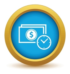 Gold buck time icon vector