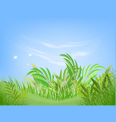 Green leaf scene vector