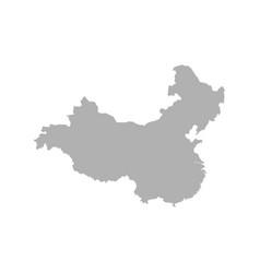 grey blank china map flat eps10 vector image