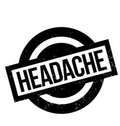 Headache rubber stamp vector