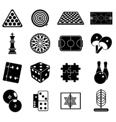 Indoor games icons set vector image