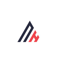 initial letter triangle logo vector image
