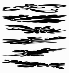 ink line collection for your design vector image