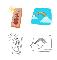 Isolated object weather and climate logo vector