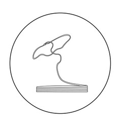 lasso icon outline singe western icon from the vector image