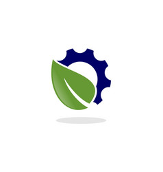 Leaf gear logo vector