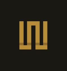 letter w square monogram logo vector image
