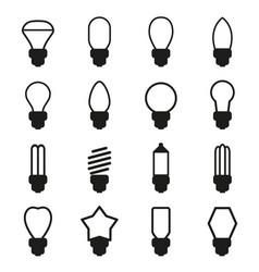 light bulb icon set vector image vector image