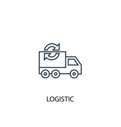 logistic concept line icon simple element vector image