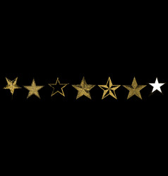luxury gold stars elements for advertising poster vector image
