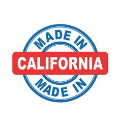 Made in california emblem flat vector
