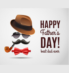Masculine dad day background vector