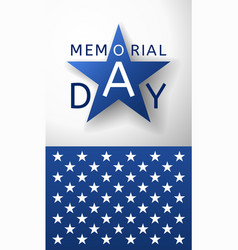 Memorial day background emblem and part of us flag vector
