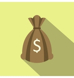 Money bag or sack flat icon vector image