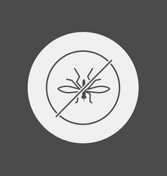 no mosquito icon sign symbol vector image