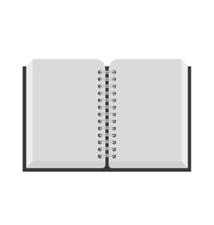 notebook isolated icon design vector image