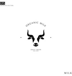 organic milk logo vector image