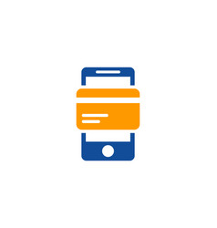 payment mobile logo icon design vector image
