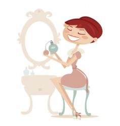perfume lady vector image