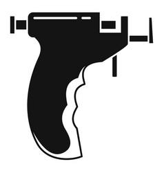 Piercing pistol icon simple style vector