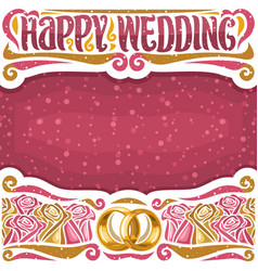 poster for wedding vector image