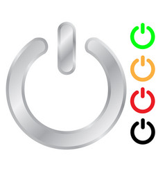 Power switch sign icon set vector