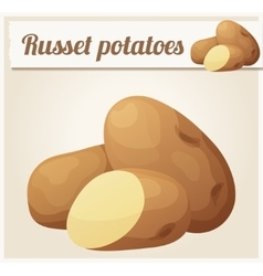 Russet potatoes Detailed Icon vector image