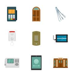 Safe money icon set flat style vector
