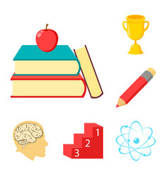 School and education cartoon icons in set vector